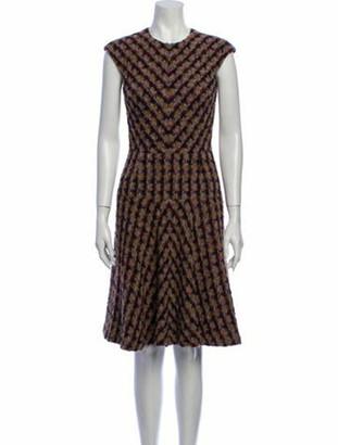 Oscar de la Renta 2009 Knee-Length Dress Purple