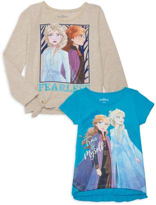 Disney Girl's 2-Pack Disney's Frozen 2 T-Shirts