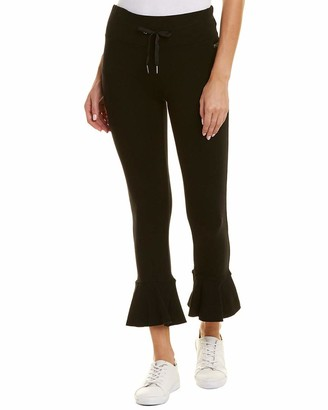 Betsey Johnson Women's Ruffle Hem Terry Pant