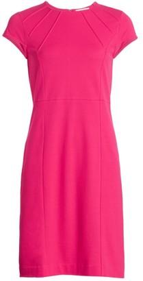 Joan Vass Petite Stretch-Pique Sheath Dress