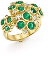 Temple St. Clair 18K Yellow Gold Emerald and Diamond Cluster Trio Ring