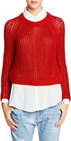 Mango Outlet Chunky Knit Cropped Sweater