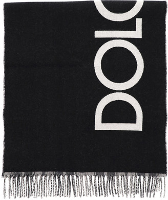 Dolce & Gabbana Tartan And Logo Reversible Scarf