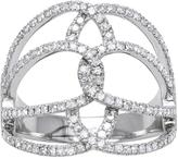 2/3 CT Diamond Free Form Fashion Ring in 10K White Gold by Moda Di Oro
