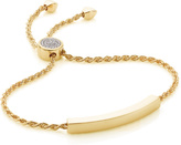 Monica Vinader Linear Diamond Toggle Chain Bracelet
