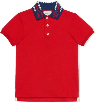 Gucci Kids Interlocking G short-sleeve polo shirt