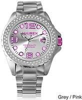 Haurex Italy Women's XK374DP3 Ink Stones Purple Aluminum Crystal Date Watch