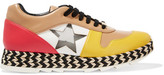 Stella McCartney Faux Leather, Mesh And Raffia Sneakers - Beige