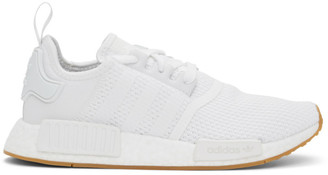 adidas White NMD R1 Sneakers