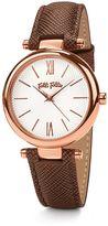 Folli Follie Cyclos Brown Leather Watch