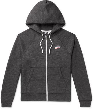 Nike Heritage Melange Fleece-Back Cotton-Blend Jersey Zip-Up Hoodie