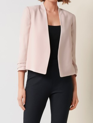 Forever New Yasmin Cropped Jacket - Nude Shimmer - 10