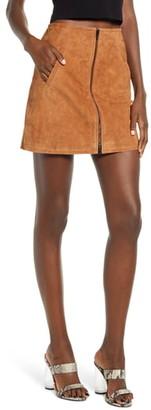 Blank NYC BLANKNYC Alder Zip Suede Skirt