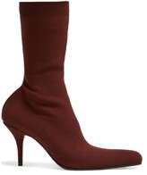 Balenciaga Round Sock Booties - Womens - Red