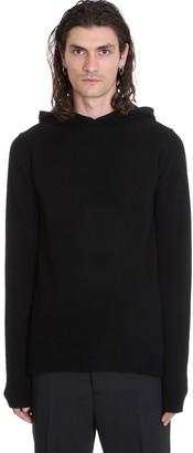 Rick Owens Hoodie Knitwear In Black Wool