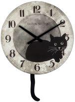 Cat Wood Wall Clock