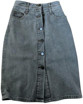 Maje Grey Denim - Jeans Skirt for Women