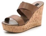 Steven Freezee Cork Wedge Sandals