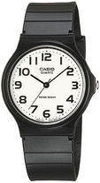 Casio Mens White Dial Black Resin Strap Watch MQ24-7B2LLUB