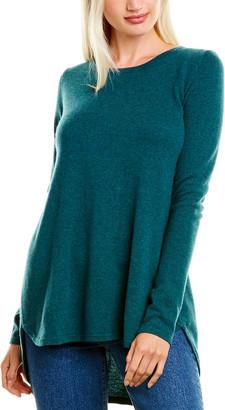 Forte Cashmere Pleat Back Cashmere Tunic