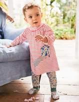 Boden Appliqué Dress & Leggings Set