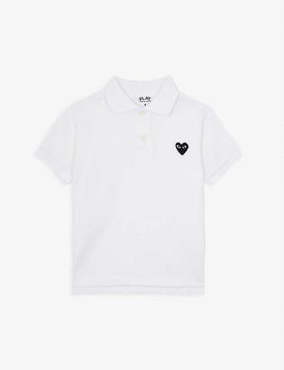 Comme des Garcons Cotton heart motif polo shirt 2-6 years