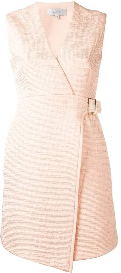 Carven wrapped flared dress