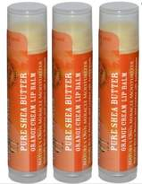 Out of Africa 100% Pure Shea Butter Lip Balm Orange Cream - 3 Pack