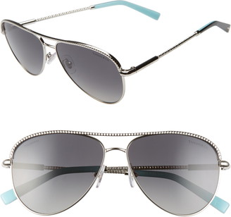 Tiffany & Co. 57mm Polarized Aviator Sunglasses