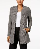 Kasper Herringbone Blazer, Regular and Petite