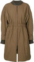 Isabel Marant long Dex coat - women - Cotton/Polyamide/Polyester/Wool - 36