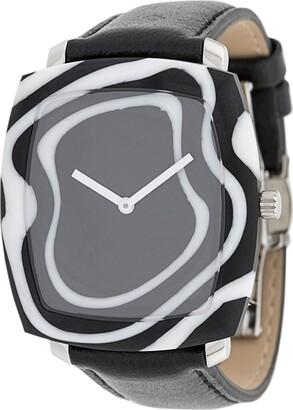 Yunik Zebra Tonneau watch