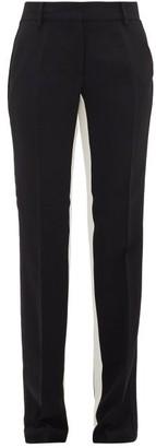 No.21 No. 21 - Side-stripe Crepe Trousers - Womens - Black
