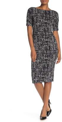 Maggy London Bateau Neck Knee-Length Knit Dress