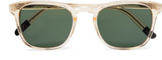 Dick Moby Marseille Square-Frame Acetate Sunglasses
