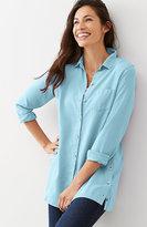J. Jill Tencel® Side-Buttoned Tunic