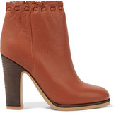 See by Chloe Leather Ankle Boots - Tan