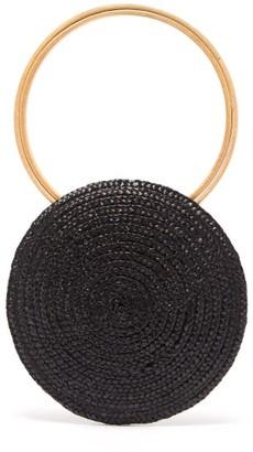 Eliurpi - Circle Mini Woven-straw Bag - Black
