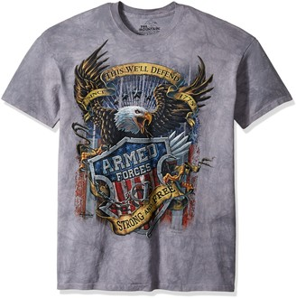 The Mountain Armed Forces Adult T-Shirt Grey XL