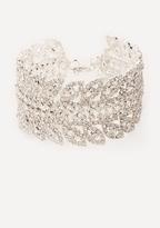Bebe Crystal Leaf Bracelet