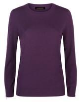 Jaeger Wool Cashmere Zip-Cuff Sweater