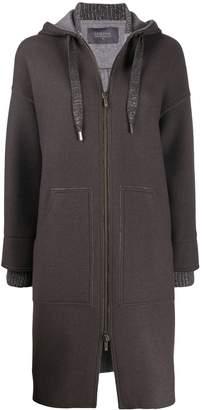 Lorena Antoniazzi hooded knitted cardi-coat