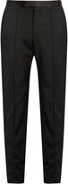 Alexander McQueen Slim-fit wool and mohair-blend tuxedo trousers