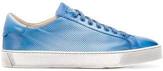 Santoni Perforated Lace-Up Trainers