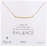 Dogeared Balance Large Square Bar Necklace Necklace
