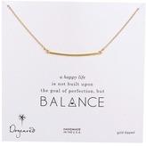 Dogeared Balance Large Square Bar Necklace