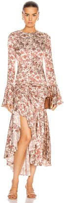 Caroline Constas for FWRD Monique Midi Dress in Rust | FWRD