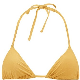 Solid & Striped The Iris Halterneck Bikini Top - Womens - Gold