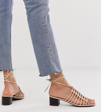New Look cut out sandal in beige