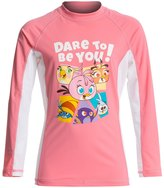 Angry Birds Stella Little Girls' Dare To Be You Long Sleeves Rash Guard (4yrs10yrs) - 8132847